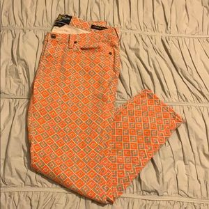 Lucky Patterned Jeans (Cropped)